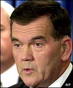 Governor Tom Ridge, proposed Secretary of Homeland Security