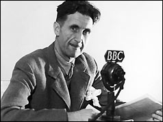 George Orwell working for the BBC in 1943