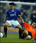 Michael Mols in action for Rangers