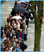 People queuing