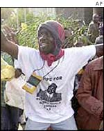 Supporter of Mwai Kibaki