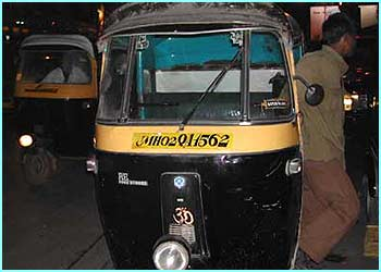 This is a taxi called a tuk tuk