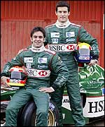 Jaguar drivers Antonio Pizzonia and Mark Webber