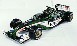 The new R4 Jaguar Formula One car
