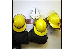 Firefighters helmets