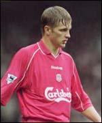 Igor Biscan in action for Liverpool at Anfield