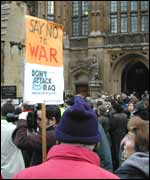 Anti-war protests at Westminster