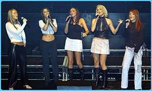 Girls Aloud went straight to number one with their first single