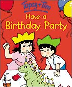 Topsy and Tim have a birthday party. Copyright: Ladybird