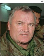 Bosnian Serb army commander General Ratko Mladic