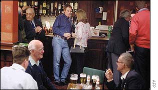 UNALTERED: Tony Blair was spotted in his local Labour club