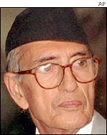 Opposition leader GP Koirala