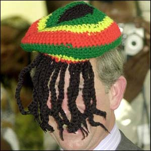 UNALTERED: Prince Charles really donned a Rasta hat