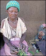 A poor Zimbabwean woman
