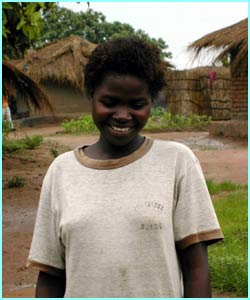 This is Janet, she's 15 years old and lives in Malawi