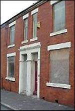 Derelict homes in east Manchester