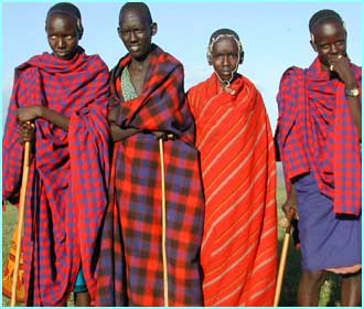 These are people from the Masai tribe in Kenya