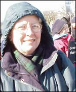 Demonstrators at anti abortion protest, Washington DC 22 January 2003