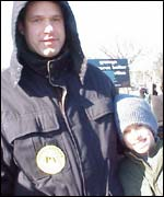 Joe Mowroci at March for Life anti abortion rally, Washington 22 Jan 2003
