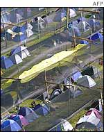 Tent city in Porto Alegre