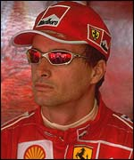 Eddie Irvine spent four years with Ferrari