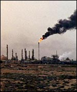 Oil refinery in southern Iraq