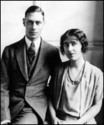 King and Queen on their engagement in 1923