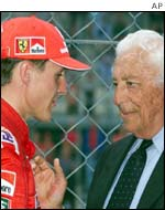 Gianni Agnelli and Michael Schumacher