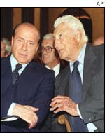Silvio Berlusconi and Gianni Agnelli