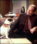 Eddy the Jack Russell with Kelsey Grammer in Frasier