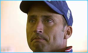 England captain Nasser Hussain reported the threatening letters
