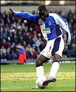 Rovers striker Andy Cole