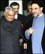 Vajpayee and Khatamai