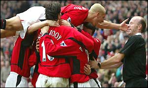 Rio Ferdinand joins the Man Utd celebrations