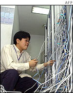 Computer technician in South Korea
