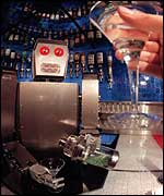 Robot at a bar
