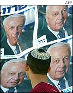Election posters of Ariel Sharon