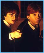 Harry and Ron in Chamber of Secrets