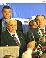 Ariel Sharon giving a speech