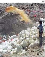 Destruction of suspected Iraq biological agents
