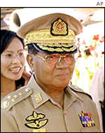 Burma's top leader, General Than Shwe