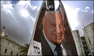 Election poster of Ariel Sharon