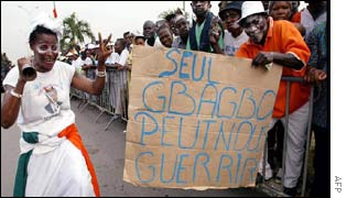 'Only Gbagbo can cure us,' says this banner
