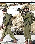 Israeli soldiers in the West Bank city of Hebron