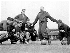 The 'Busby Babes' in training (PA)