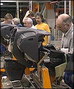 Car factory production line in Germany