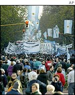 Demonstration over Argentina's economic crisis