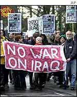 Anti-war demonstration in UK