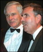 Ted Turner and Gerald Levin