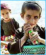 Afghan children are working in dangerous conditions